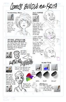 Krita comics and cartooning bundle