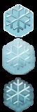 Snowflake Start Button