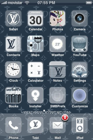 Flux LV iPhone Theme by anekdamian