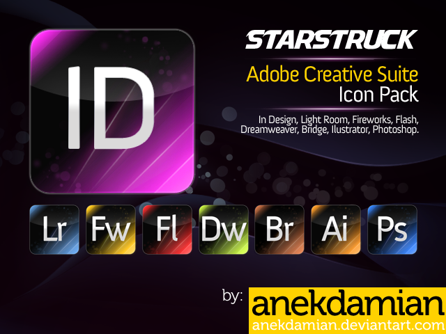 Startruck Adobe Icons by anekdamian