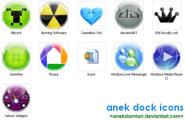 Glass Dock Icons by anekdamian