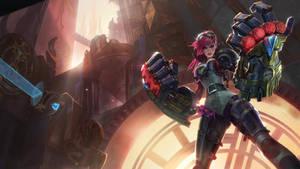 Vi, the Piltover Enforcer: Login Screen
