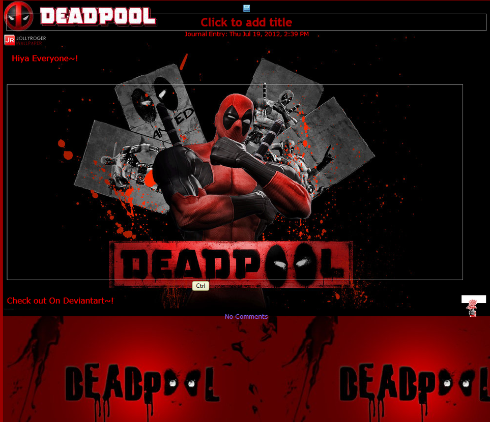 Deadpool is Cool Journal Skin by Dark-Taichou