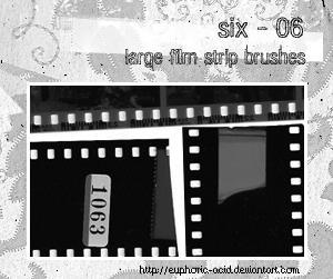 Film strip brushes by euphoric-acid