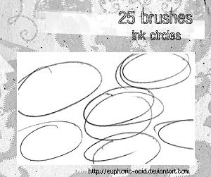 Ink circles brush set by euphoric-acid