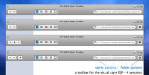 iXP AQUA Styler Toolbar