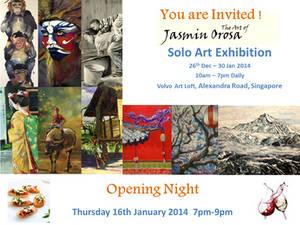 Jasmin Orosa Solo Exhibition(1) Invite