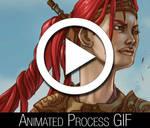 Nariko Heavenly Guardian Animated Process