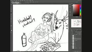 CHARACTER JAM:  Gamer Girl Artemis Time Lapse