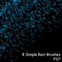 PS7 - 8 Simple Rain Brushes by mediaklepto