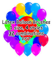 PS7 - 32 Latex Balloon Brushes by mediaklepto