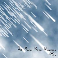 PS7 - 10 More Rain Brushes by mediaklepto
