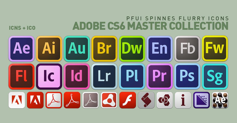 Adobe Cs6 Icons Vector