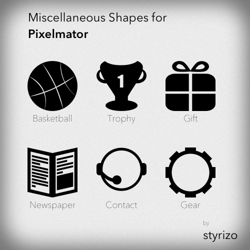 PixelmatorShapes by styrizo