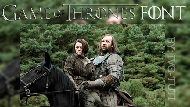 Game Of Thrones Font - Juego de tronos
