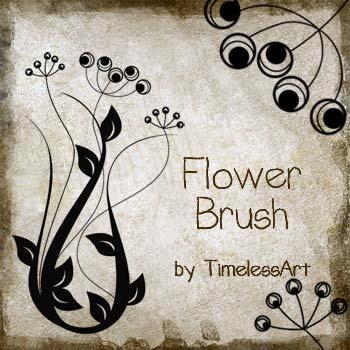 Flower Brush by TimelessArt