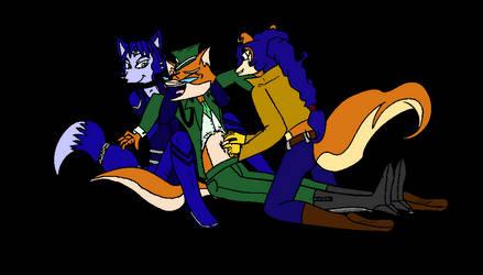 Lt. Vixen tickled (by Kenzoe64)