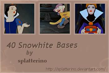 40 Snowhite Bases by splatterino
