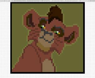 Kovu Pixel Art by Saphlovescookies