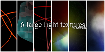 6 large light textures by iksh