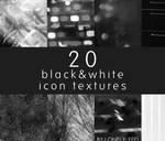 20 black and white icon textures