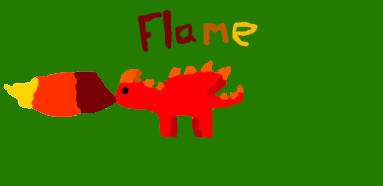 Flame the dragon :P by Animalgaming911