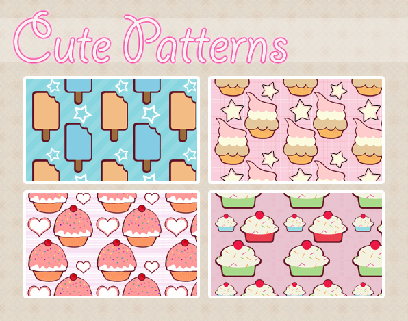 Cute Patterns by koshadesing on DeviantArt