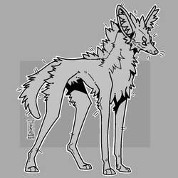 PTU Pixel Maned Wolf Base