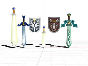 Zelda Ph ST Sword And Shields models dl