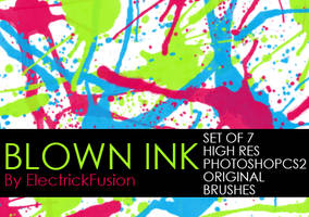 blown ink brushes by ElectrickFusion