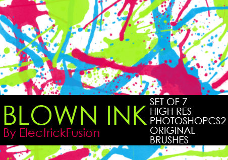 blown ink brushes