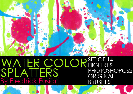 water color splatter brushes