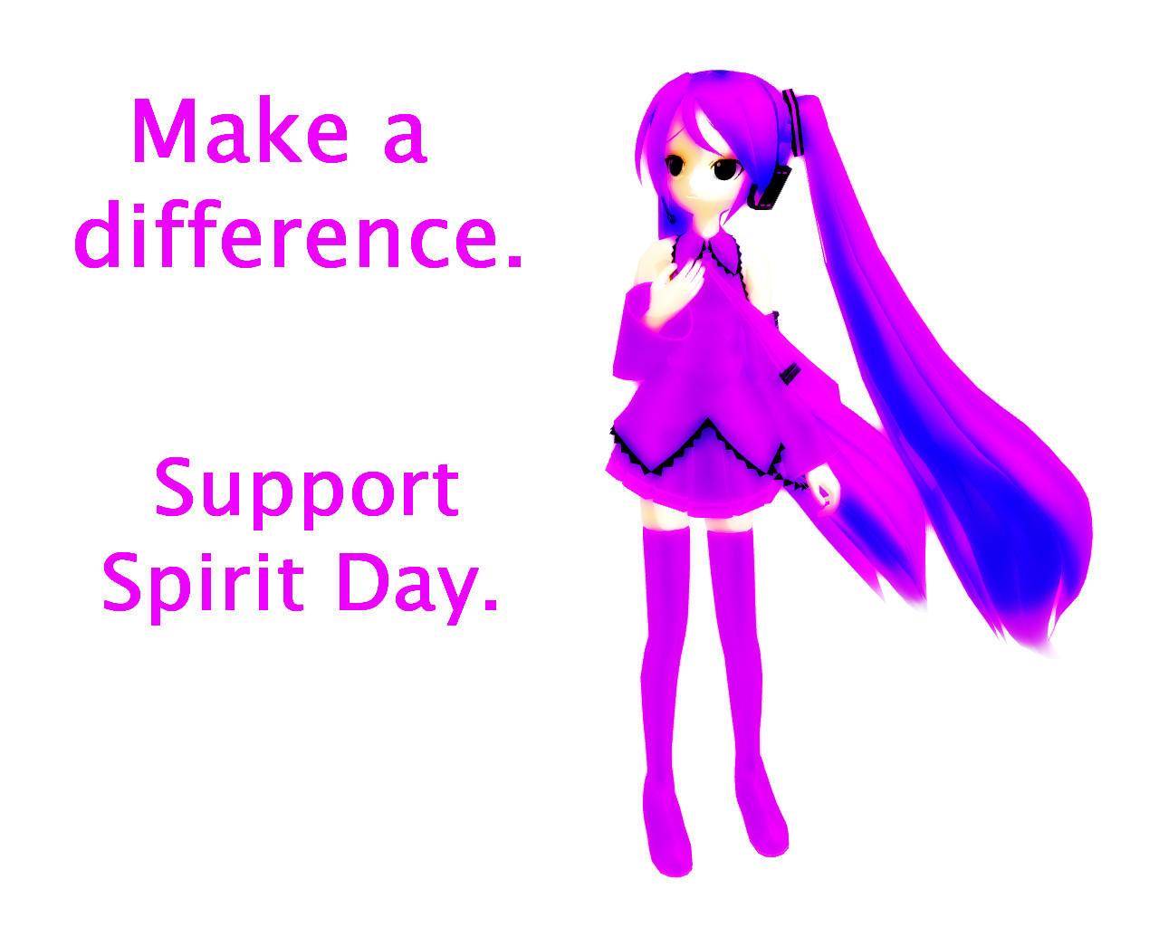 Miku Hatsune- Support Spirit Day! by Neverlia