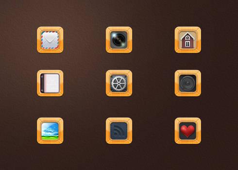 Wood frame icon