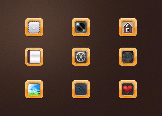 Wood frame icon by kazu3106