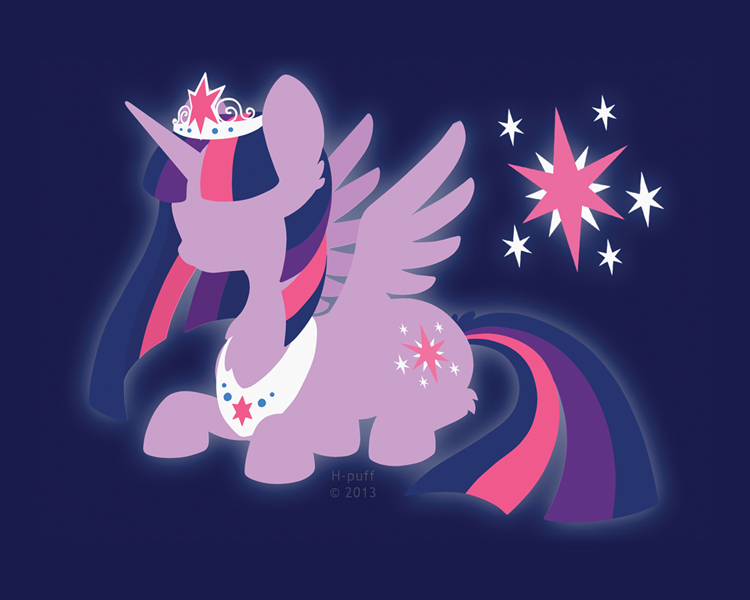 Princess Twilight Sparkle Silhouette Wallpaper By Hpuff