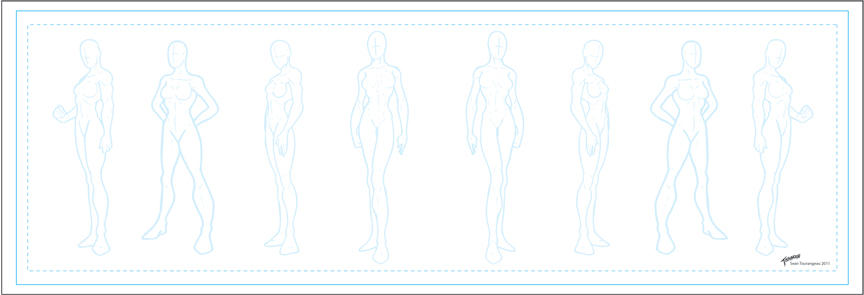 Comic Book Character Design Template : Character template females by stourangeau on deviantart