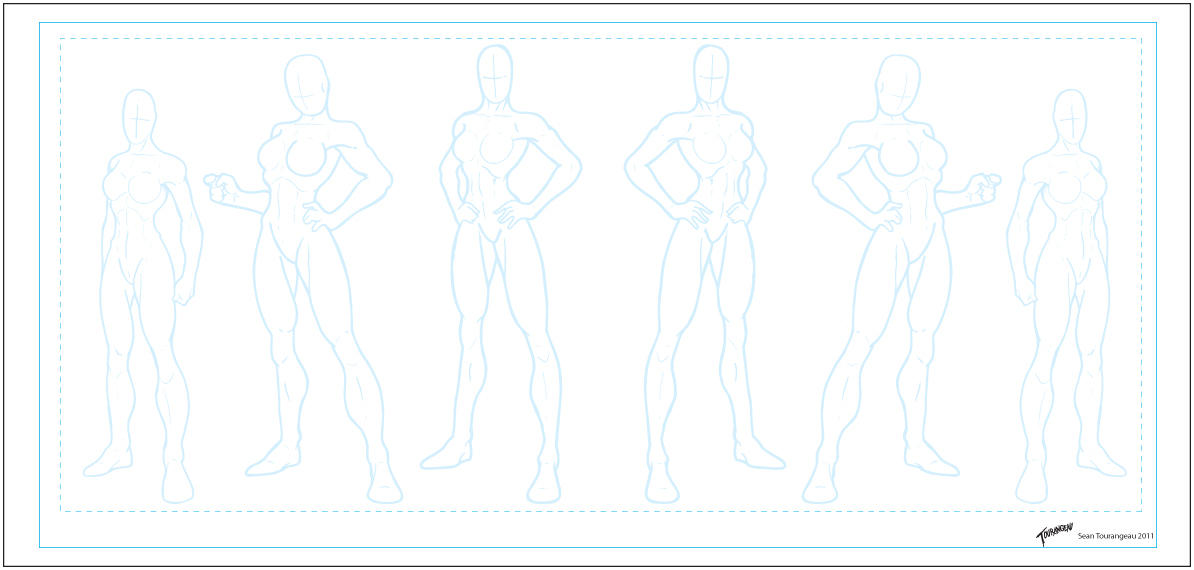 Anime Character Design Template : Design template male by volvoab