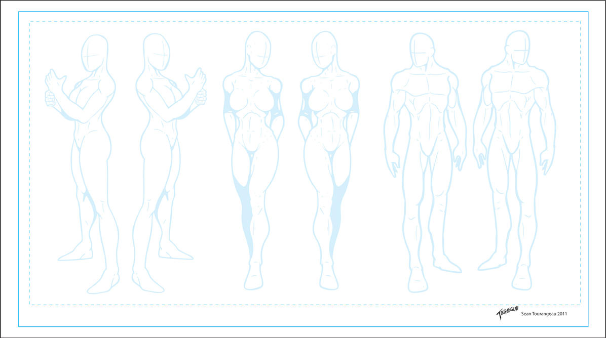 Comic Book Character Design Template : Character templates by stourangeau on deviantart