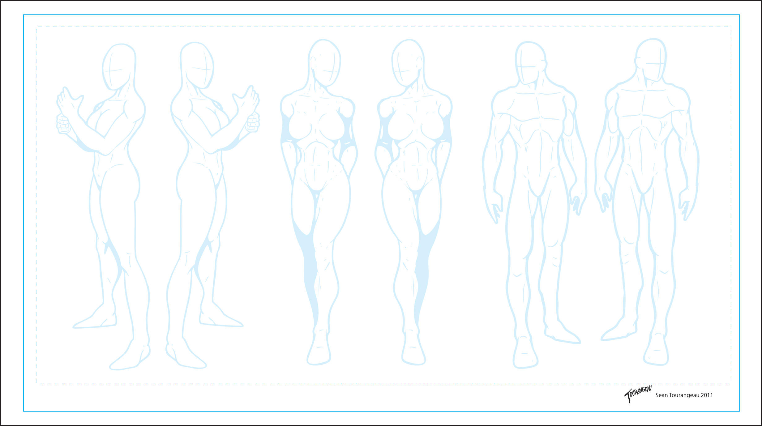 Character Design Outline : Character templates by stourangeau on deviantart