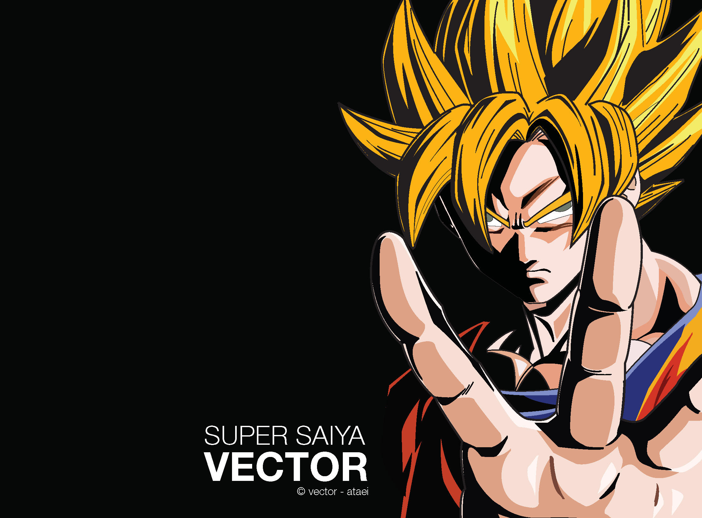 Son Goku Super Saiya  Vector By Ataei On DeviantArt