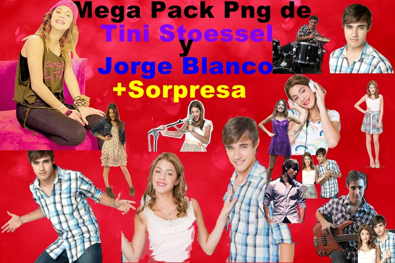 Pack PNG de Martina Stoessel y Jorge Blanco by EugeeTinistaForever