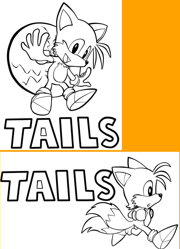 sonic tails coloring pages - downloadable classic tails coloring pages by fayelenefyre