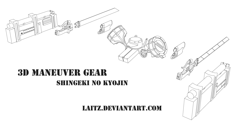 3D Maneuver Gear (3DMG) : Blueprints by Laitz