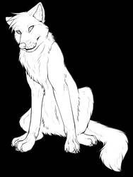 Free Wolf Lineart by Sethya