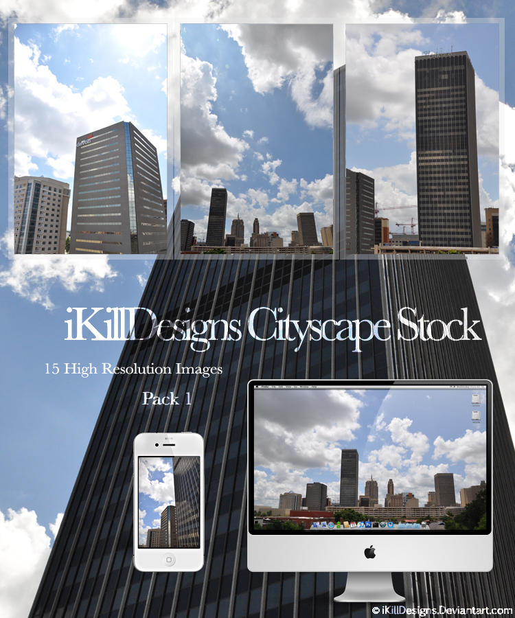 Cityscape Stock Pack 1 by iKillDesigns
