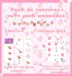 cursor paleta y pajarito rosa efecto para cursor