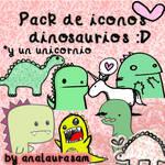 Pack de iconos dinosaurios :D