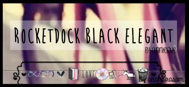 Rocketdock elegant black by Analaurasam