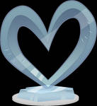 Heart ice sculpture .PSD